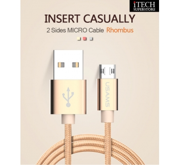 Micro plug reversible cable -- U-knit Series 1m