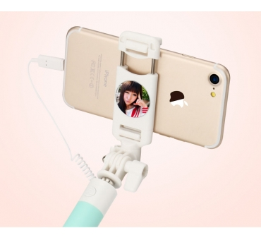 Small Mirror Lightning Head Selfie Stick US-ZB014