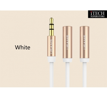 USAMS 2 in 1 Aux Audio Cable 0.5m--Lovers Series